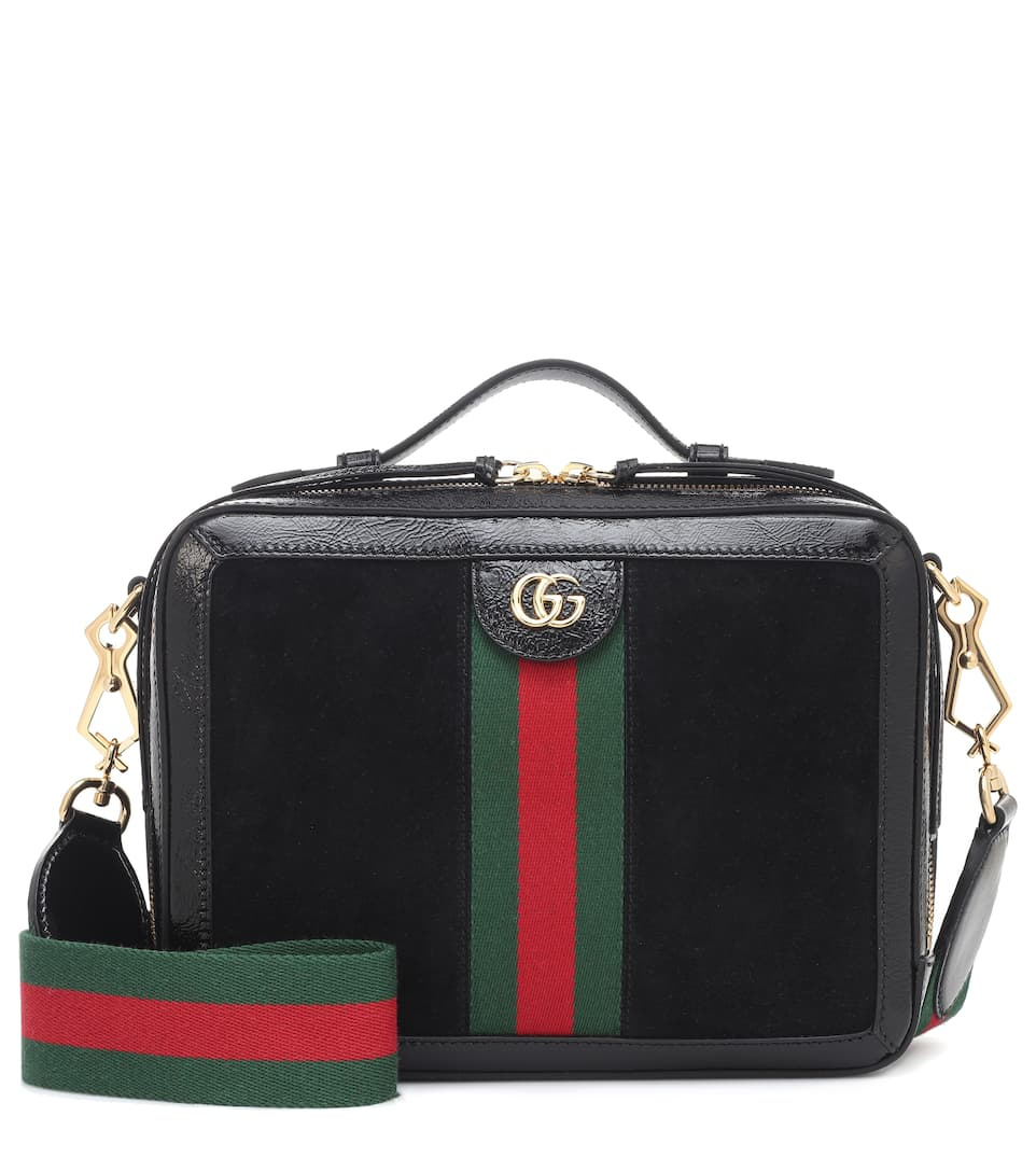 Ophidia Suede And Leather Shoulder Bag by Gucci