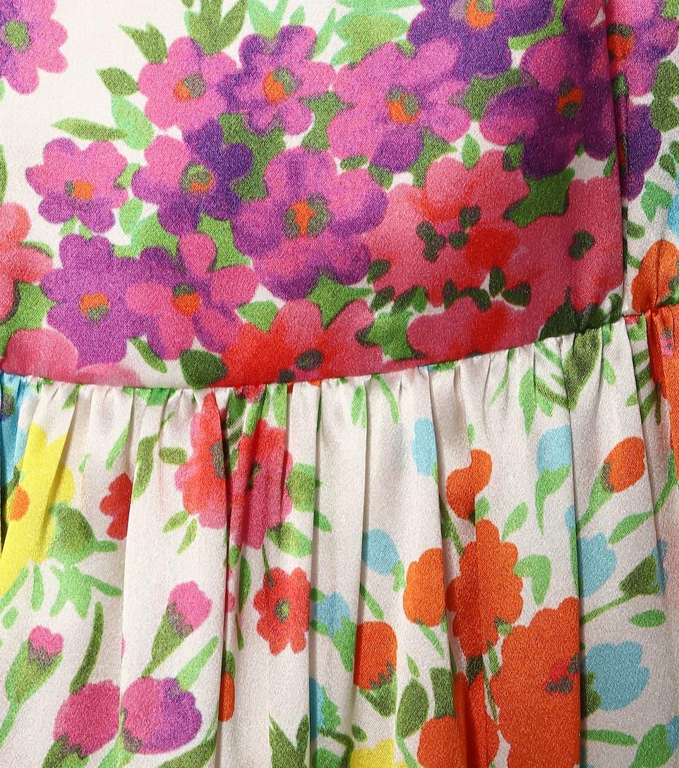 Les Rêveries - Abito a stampa floreale in seta