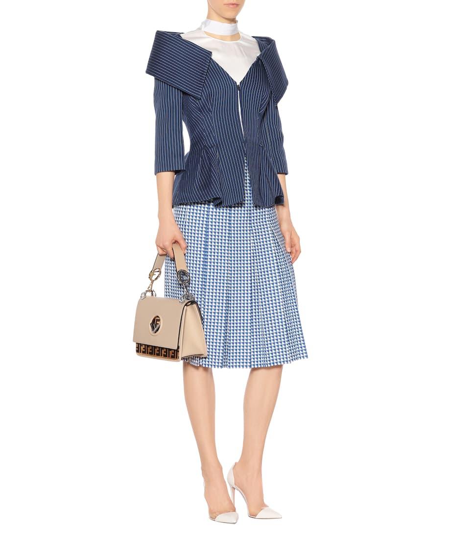 Fendi Schulterfreie Jacke aus Baumwolle und Seide