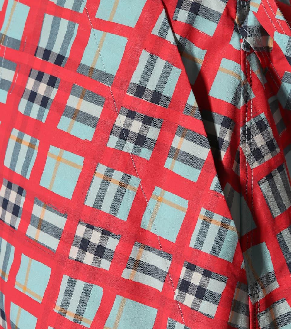 vestido de Check Aqua Burberry Bright Camisa algodón HwIRqOO