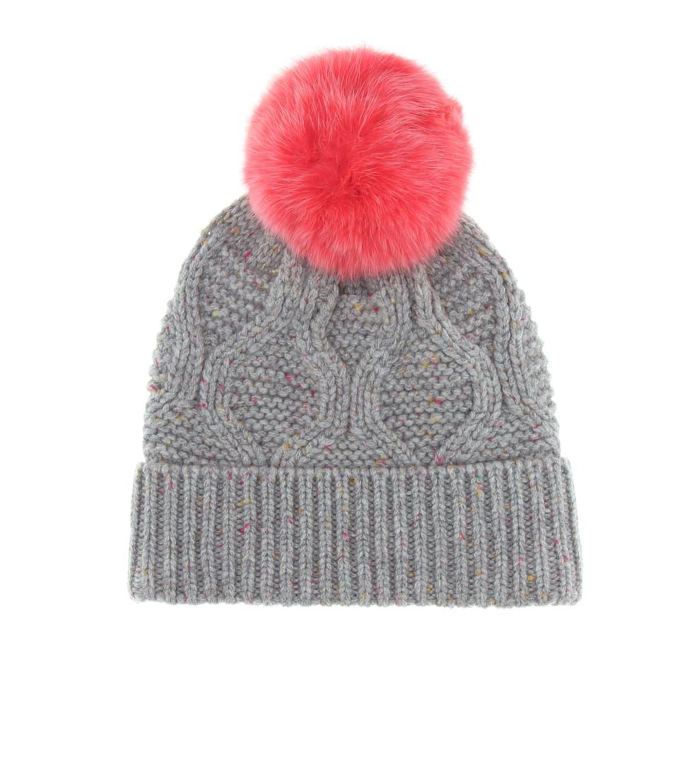 d105fd1a Fur-Trimmed Wool Beanie - Yves Salomon | mytheresa.com