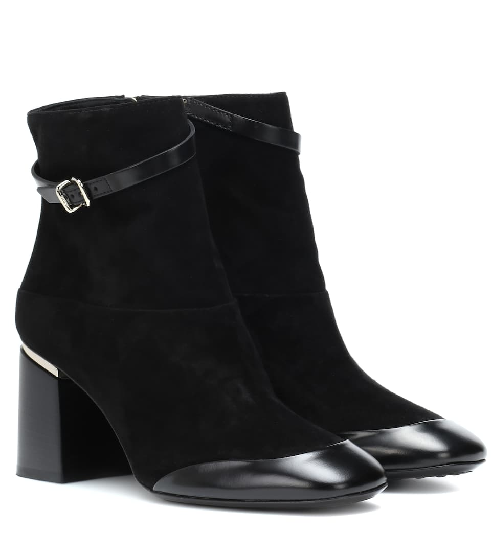 38b5eab62a2 Leather And Suede Ankle Boots - Tod's | mytheresa
