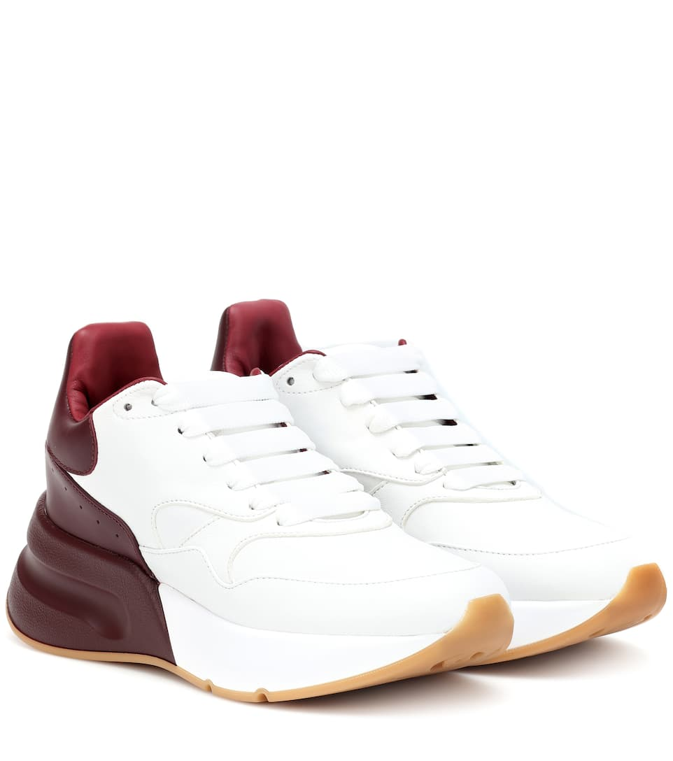 Oversized Runner Leather Sneakers by Alexander Mc Queen
