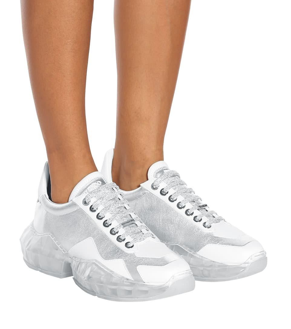 Diamond Leather Sneakers - Jimmy Choo