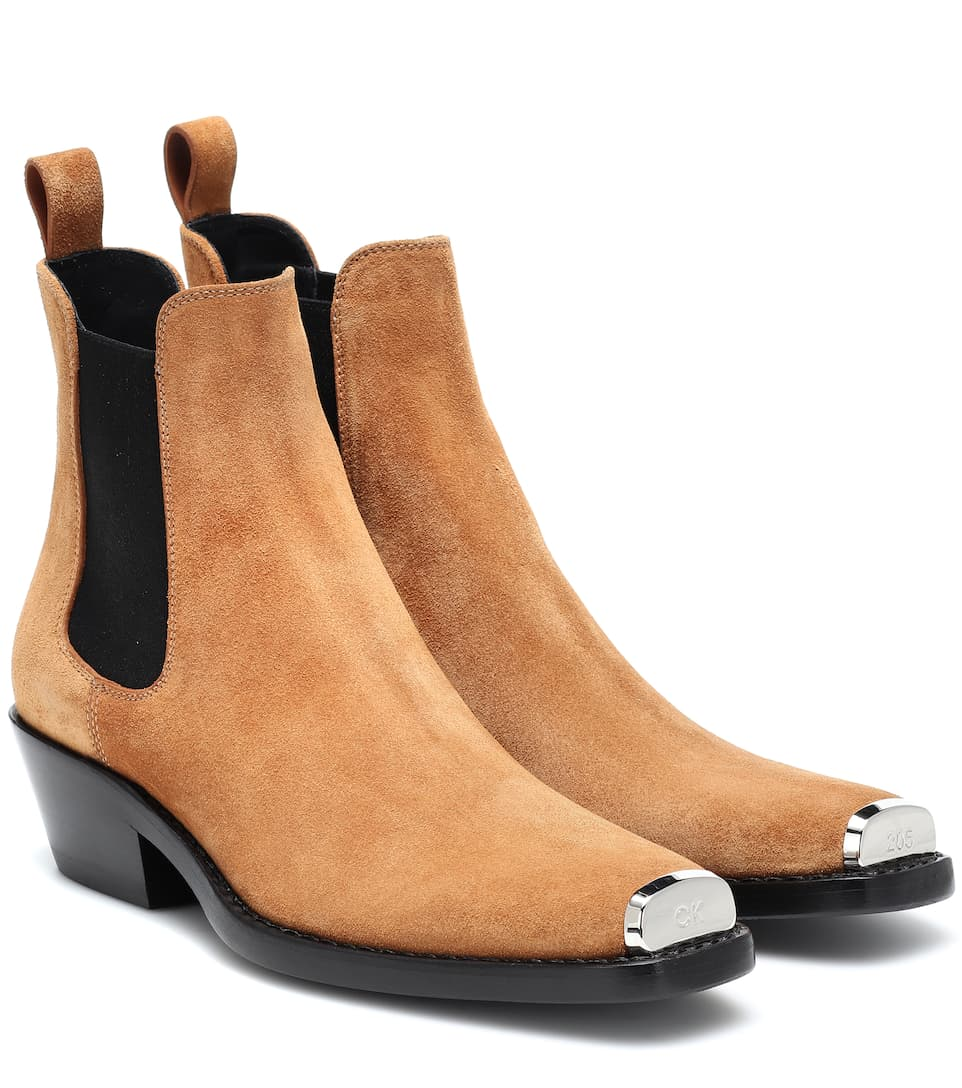 Western Claire Suede Ankle Boots