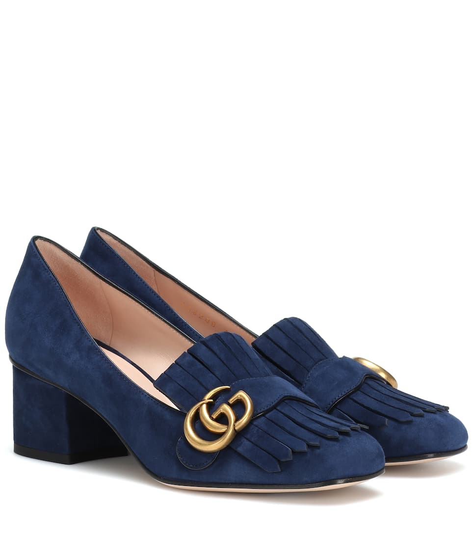 e804ce67a Suede Loafer Pumps - Gucci   mytheresa