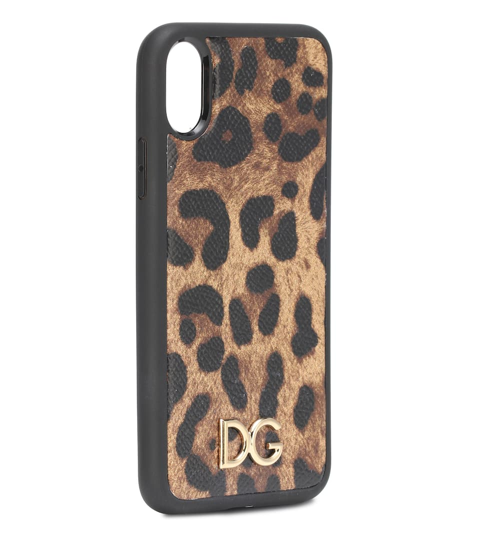 buy online 24ab1 ff846 Printed leather iPhone X case