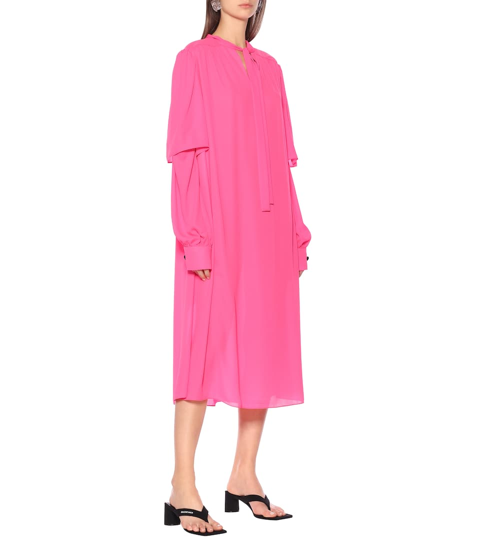 Crêpe Midi Dress | Balenciaga - Mytheresa