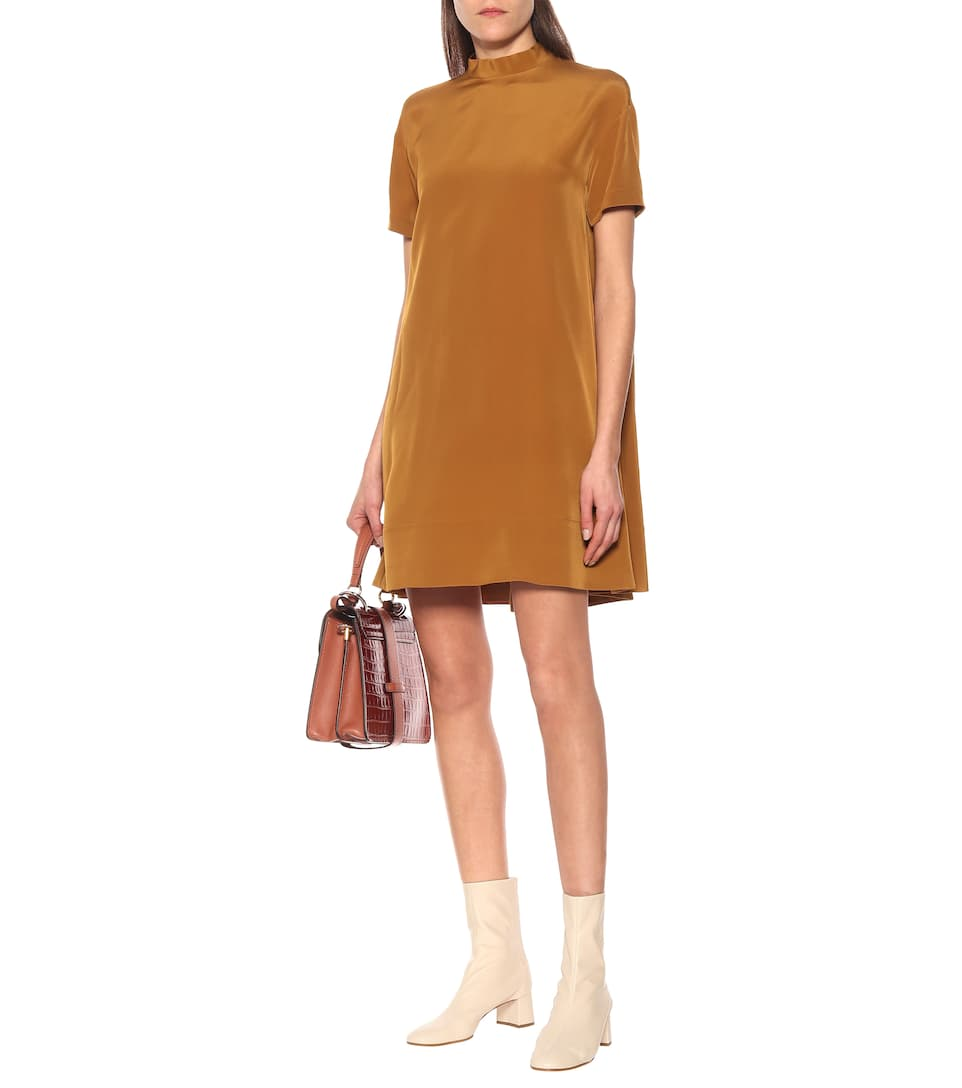 Chloé - Satin-crêpe minidress