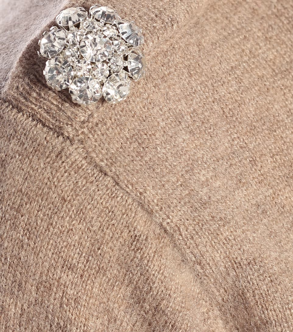 Ganni - Pullover in cashmere con cristalli
