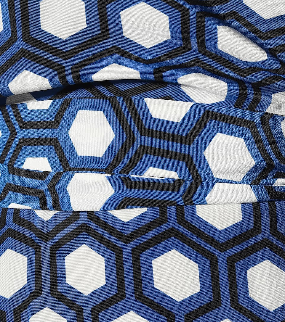 Diane von Furstenberg - Kelsey printed silk midi wrap dress