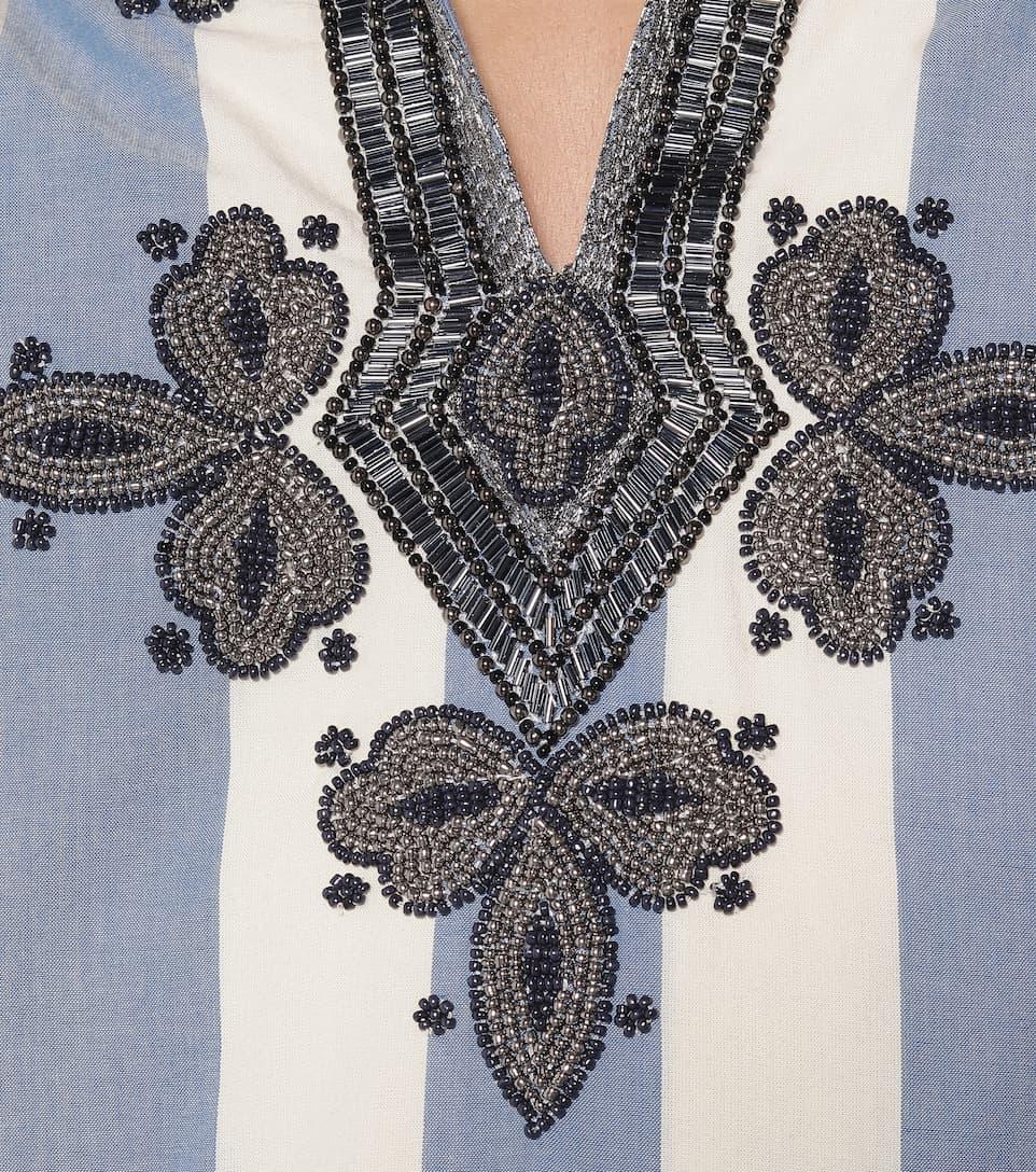 Tory Burch - Embellished cotton kaftan