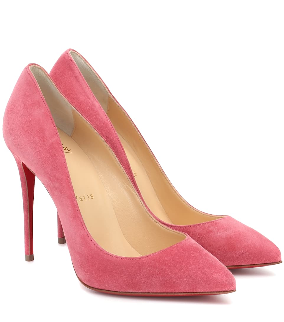 christian louboutin pigalle 120 crystal embellished suede pumps