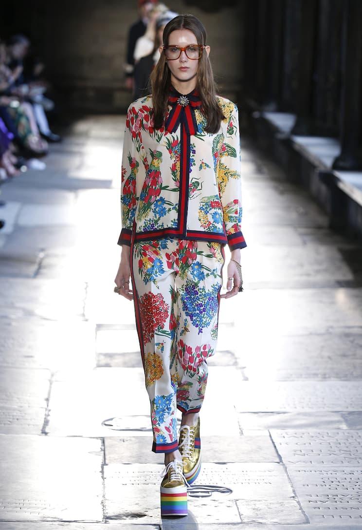 Gucci Bedruckte Seidenhose Rabattgutscheine Online Angebote Günstig Online Billig 2018 Unisex Freies Verschiffen Neue Stile Günstig Kaufen Die Besten Preise AMGqp9