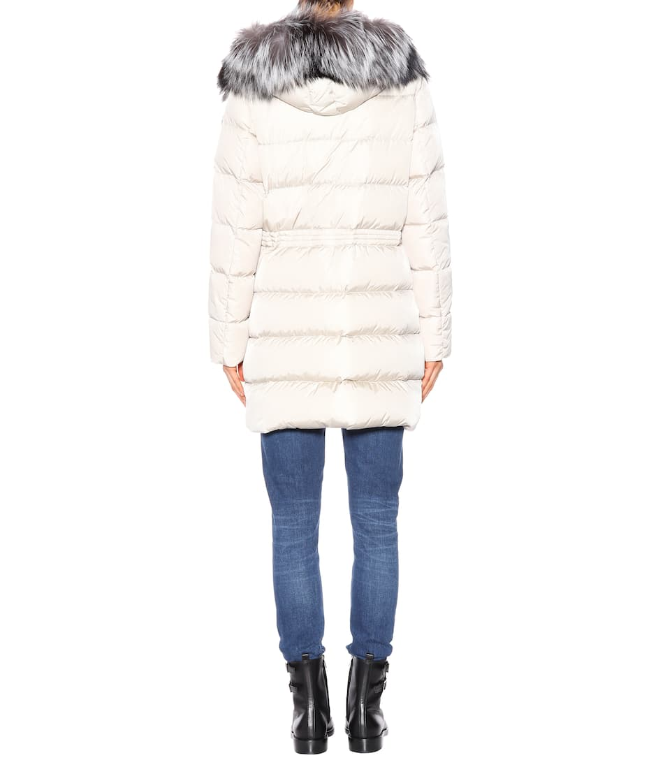 Aphrotiti fur-trimmed down coat. Moncler