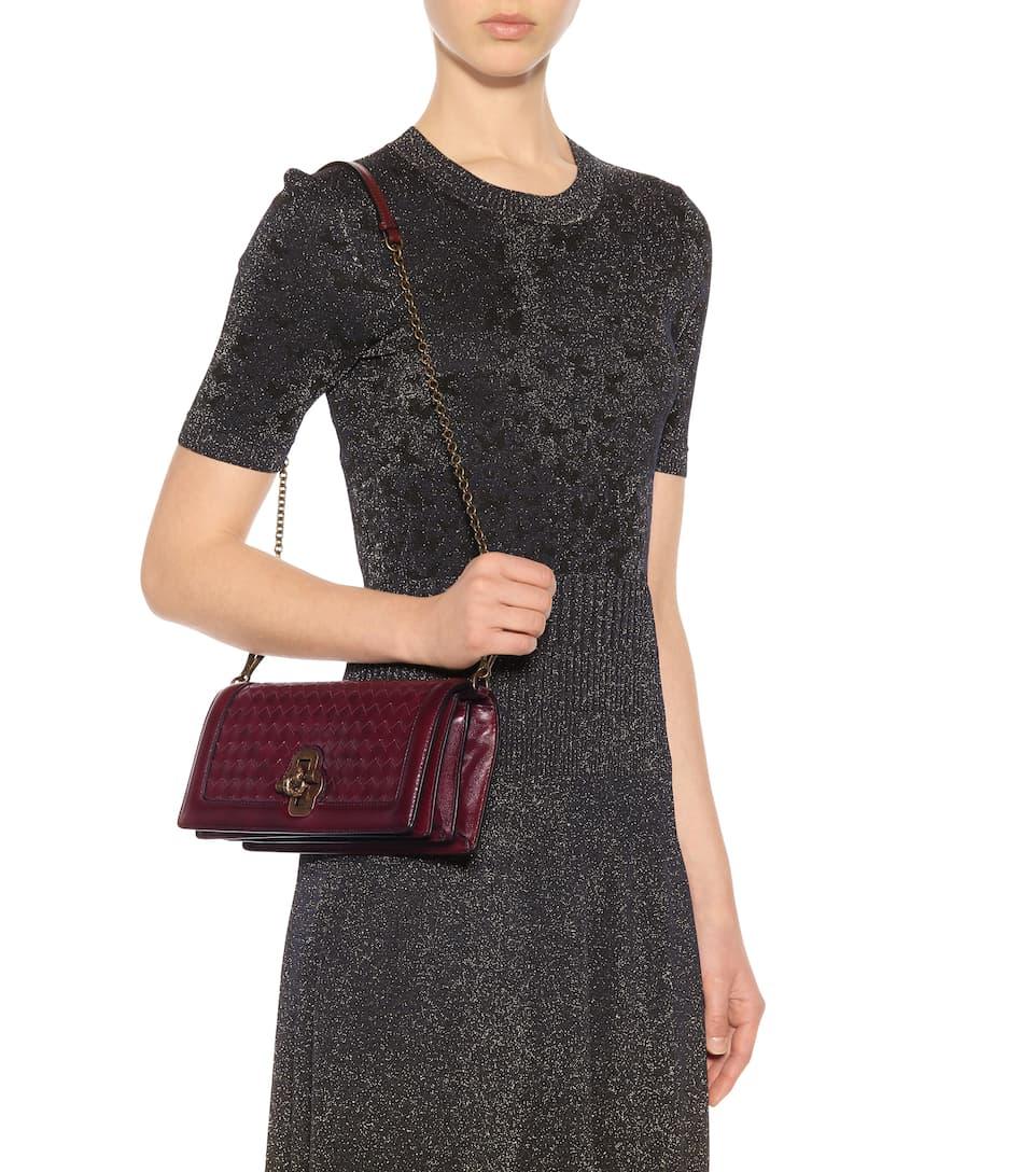 Billig Besuch Bilder Günstig Online Bottega Veneta Schultertasche aus Leder Billiger Fabrikverkauf 2Zoi5en3