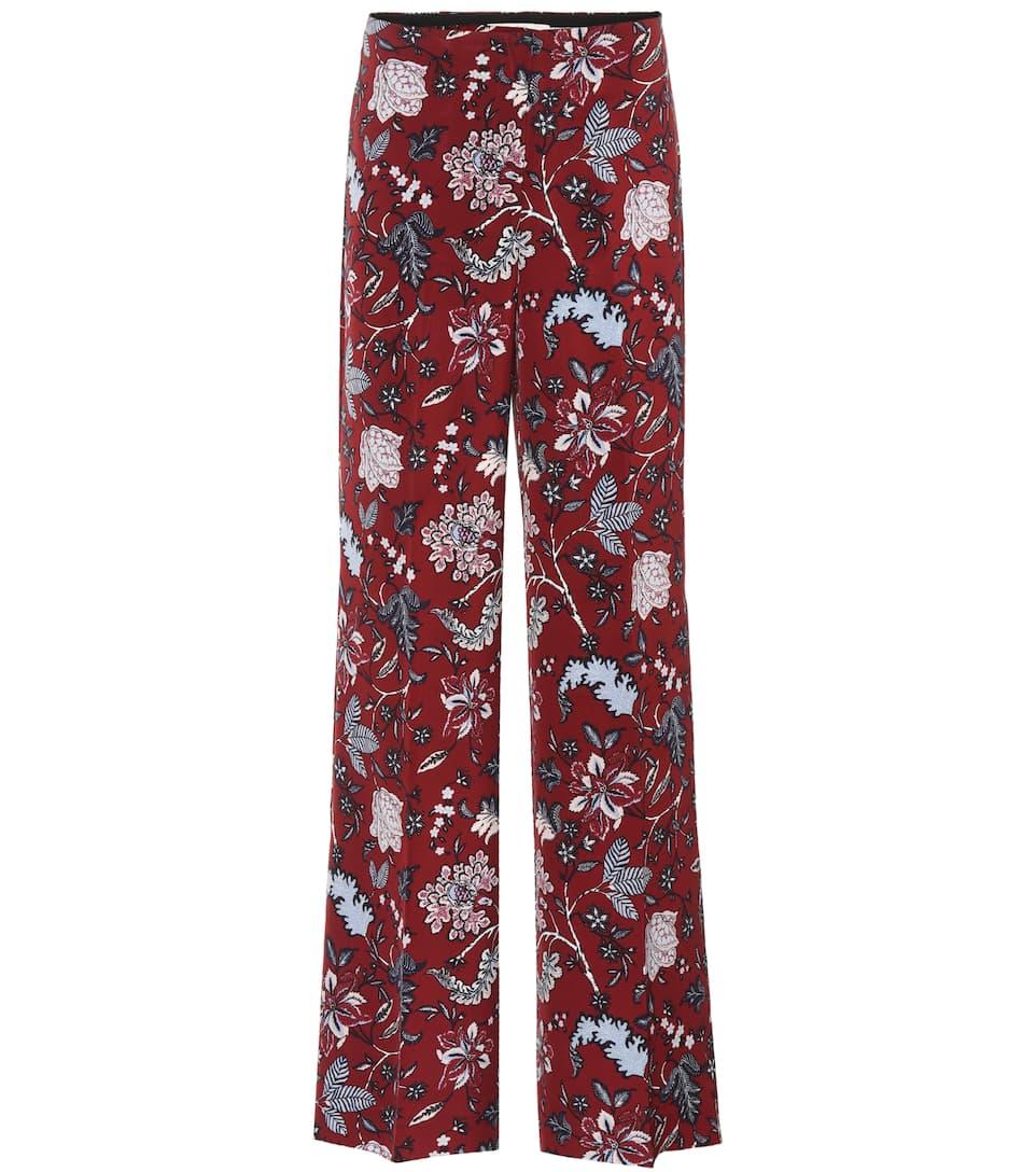 Diane von Furstenberg Bedruckte Hose mit Stretch-Seide