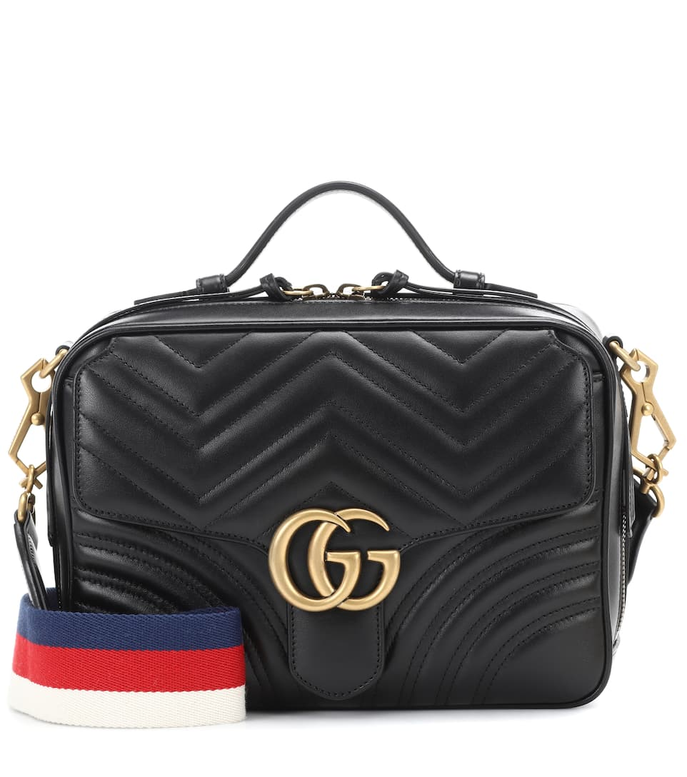 GG MARMONT MATELASSÉ LEATHER BAG