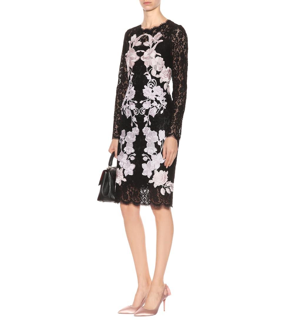 Dolce & Gabbana Besticktes Spitzenkleid