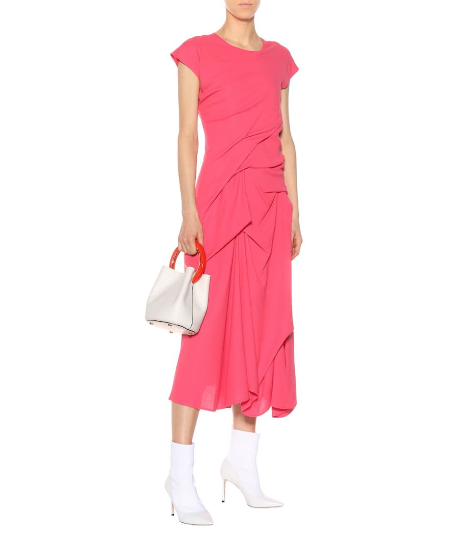Sies Marjan Maxikleid mit Wolle und Drapierungen