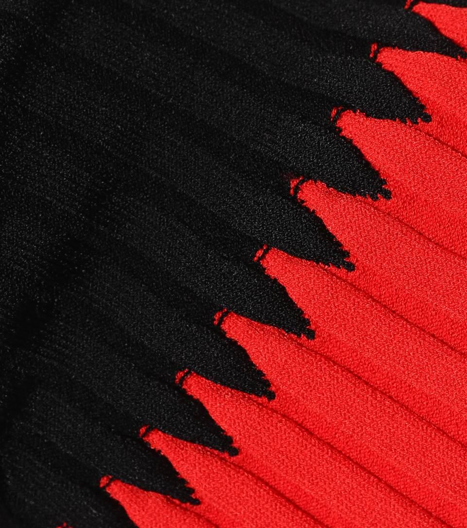 McQueen Negro manga acanalado Jersey acanalada Rojo Alexander de dawF6qnd8