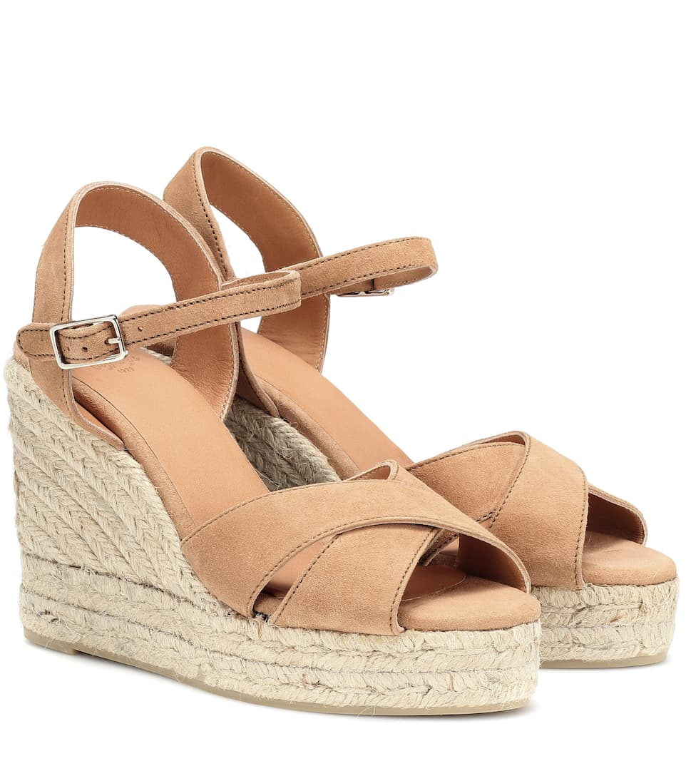 Tan Suede Wedges