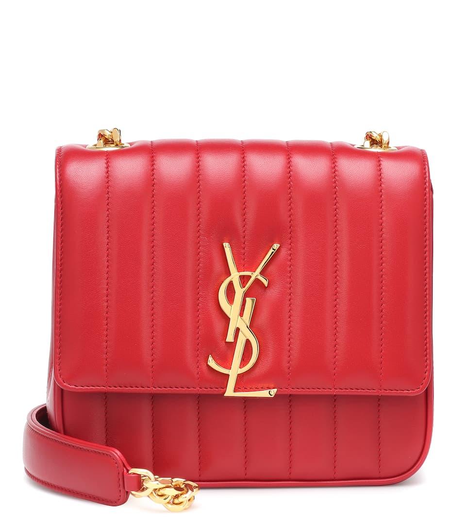 26322e7c13f Vicky Medium Leather Shoulder Bag - Saint Laurent | mytheresa