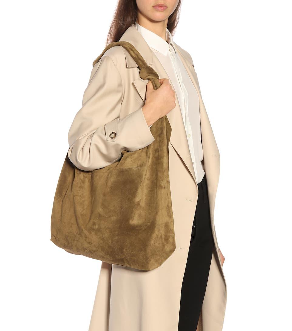 d61953e05b3a The Row - Bindle suede shoulder bag