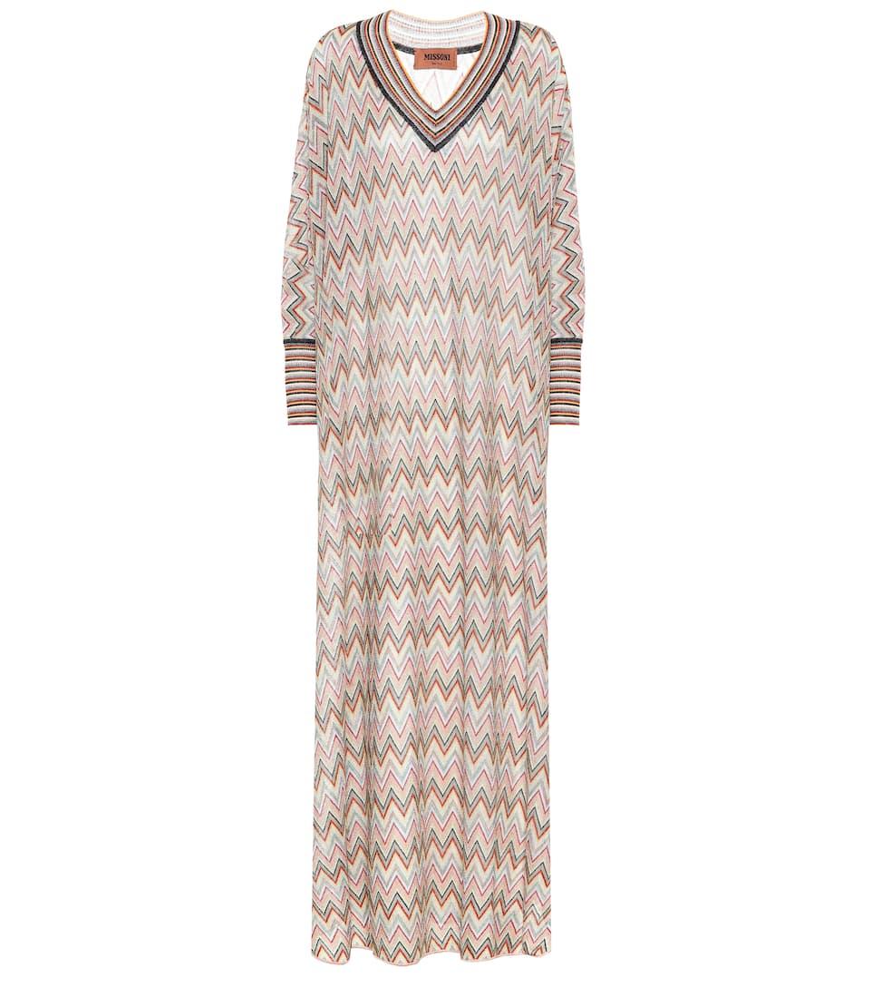 c5014b102 Missoni - Striped stretch-silk maxi dress | Mytheresa