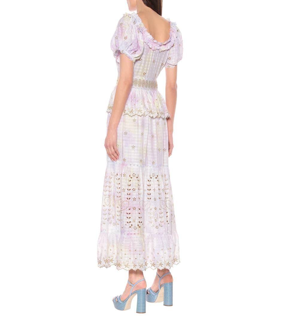Kennedy Off-Shoulder Maxi Dress   LoveShackFancy - Mytheresa
