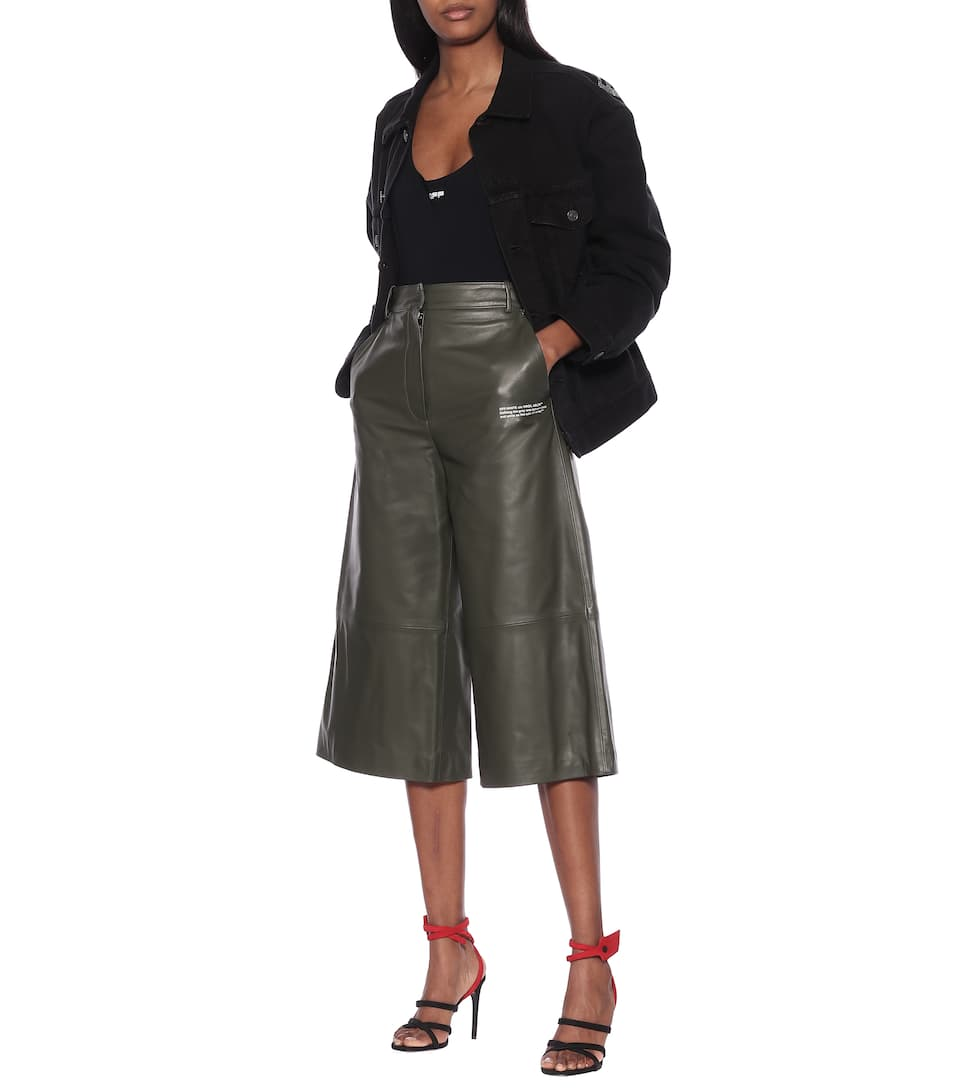Off-White - Leather culottes