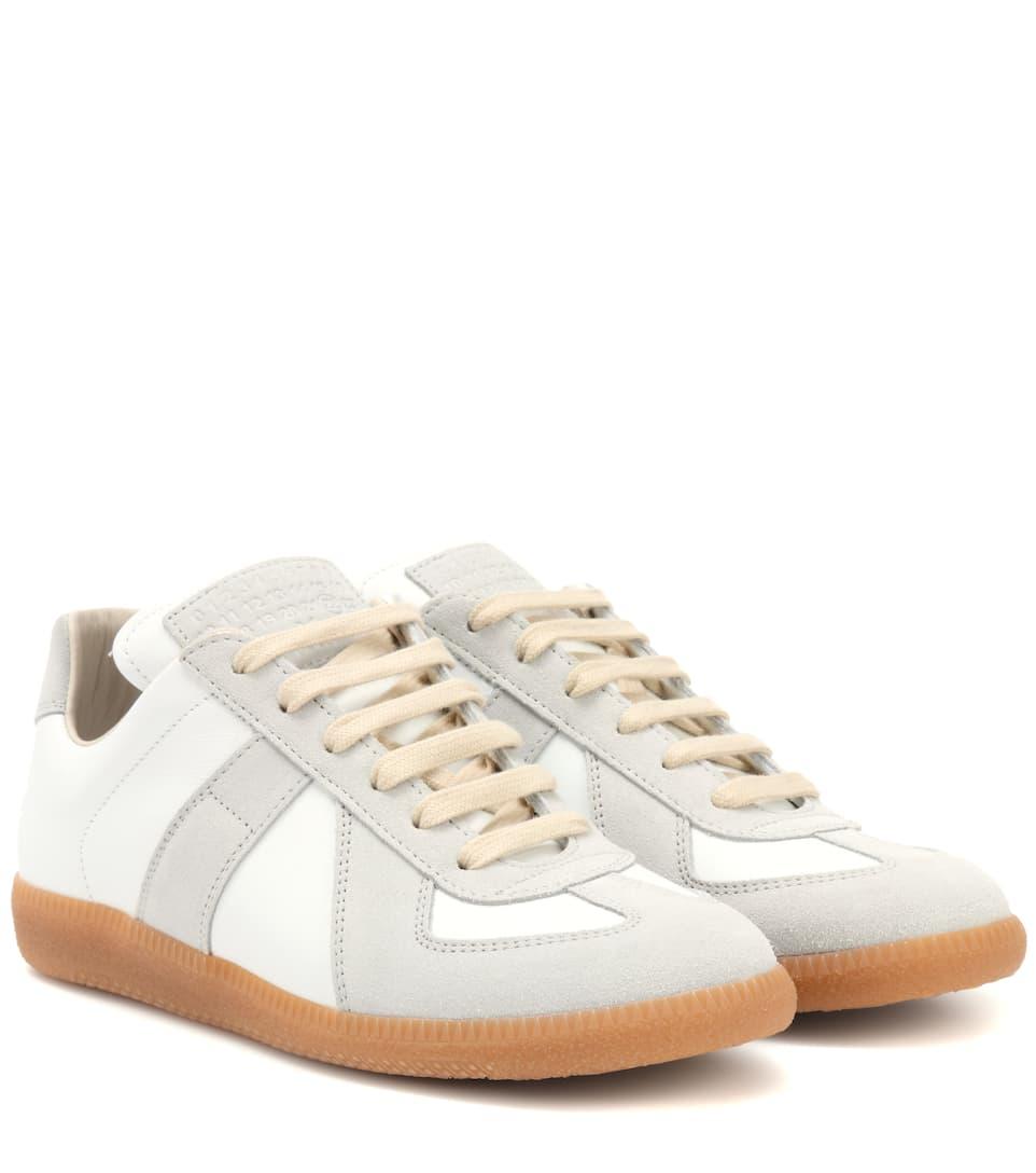 Maison Margiela Sneakers Replica aus Leder und Veloursleder