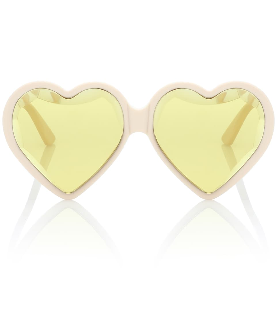 5c210a8500544 Heart-frame acetate sunglasses. Runway. Gucci