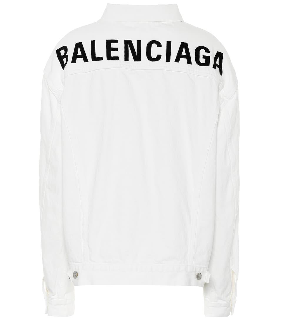 435863ee Balenciaga - Logo oversized denim jacket | Mytheresa