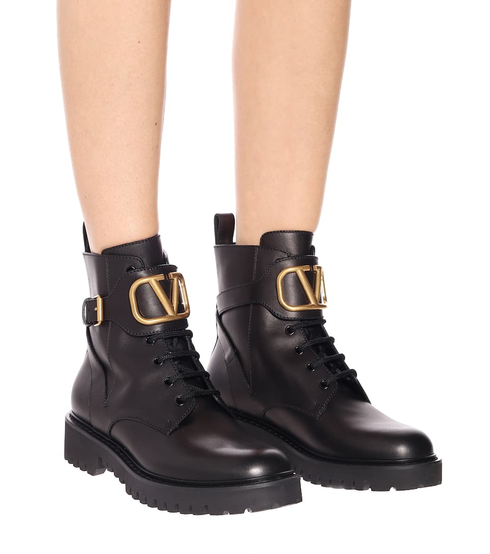 Valentino Garavani Vlogo Leather Ankle