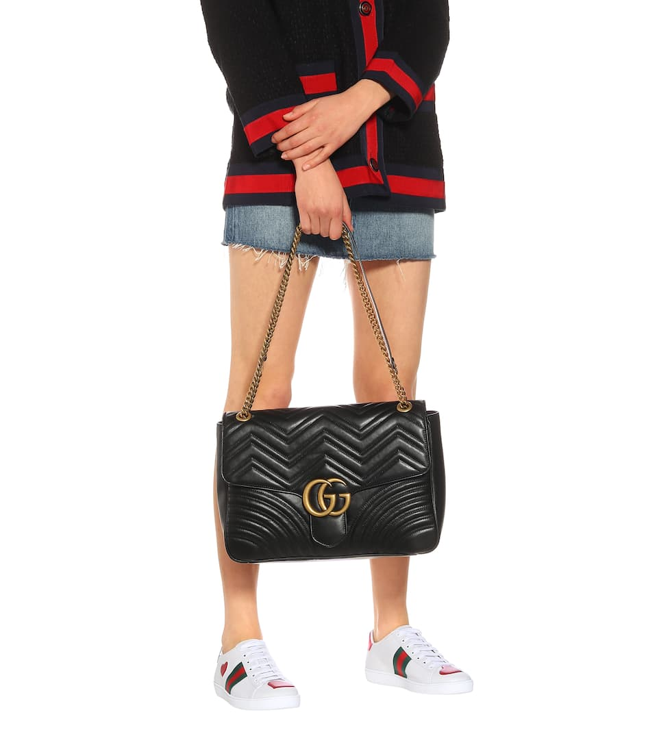7cf3326499e Gg Marmont Matelassé Leather Shoulder Bag - Gucci | mytheresa