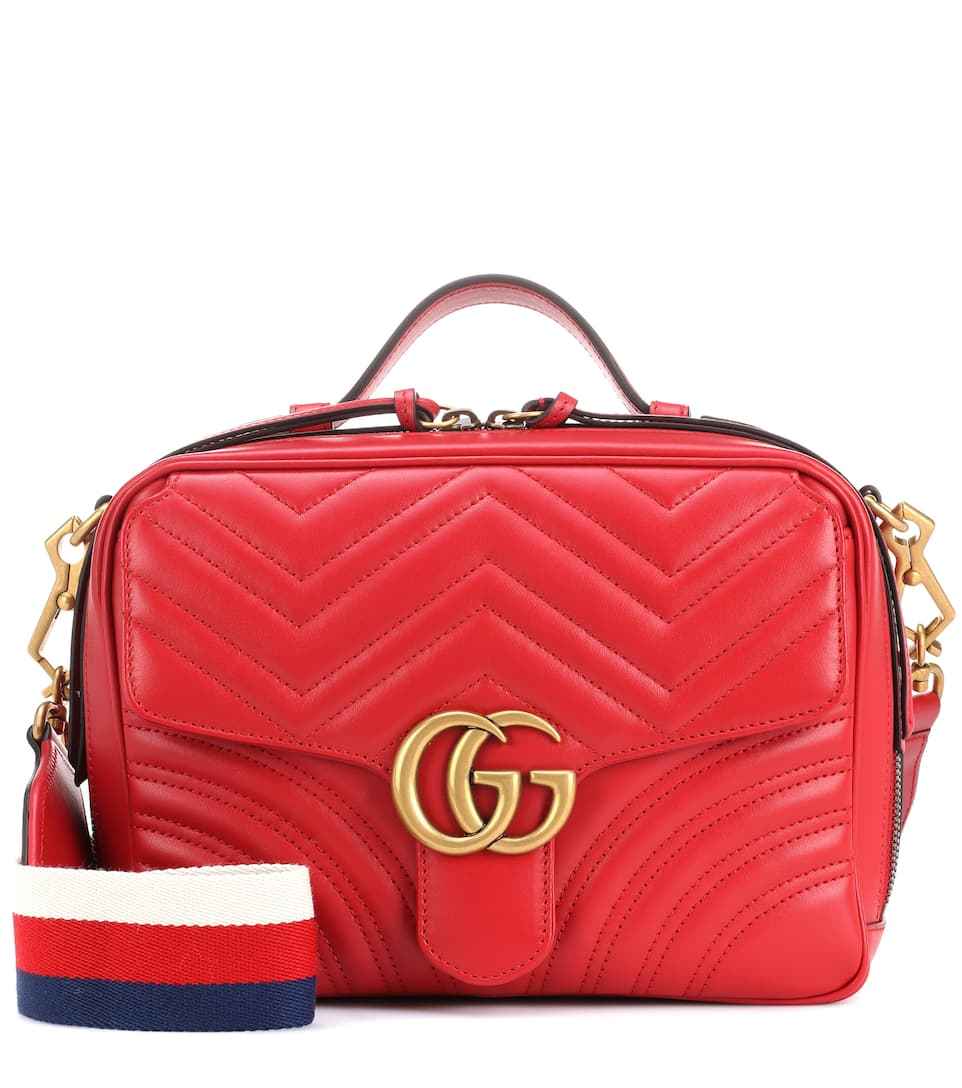 58ea741fdeb0 Gucci - GG Marmont leather shoulder bag | Mytheresa