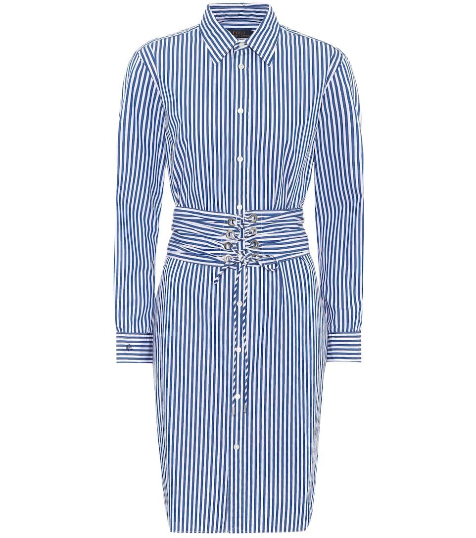 Polo Ralph Lauren Striped Blouses Dress In Cotton