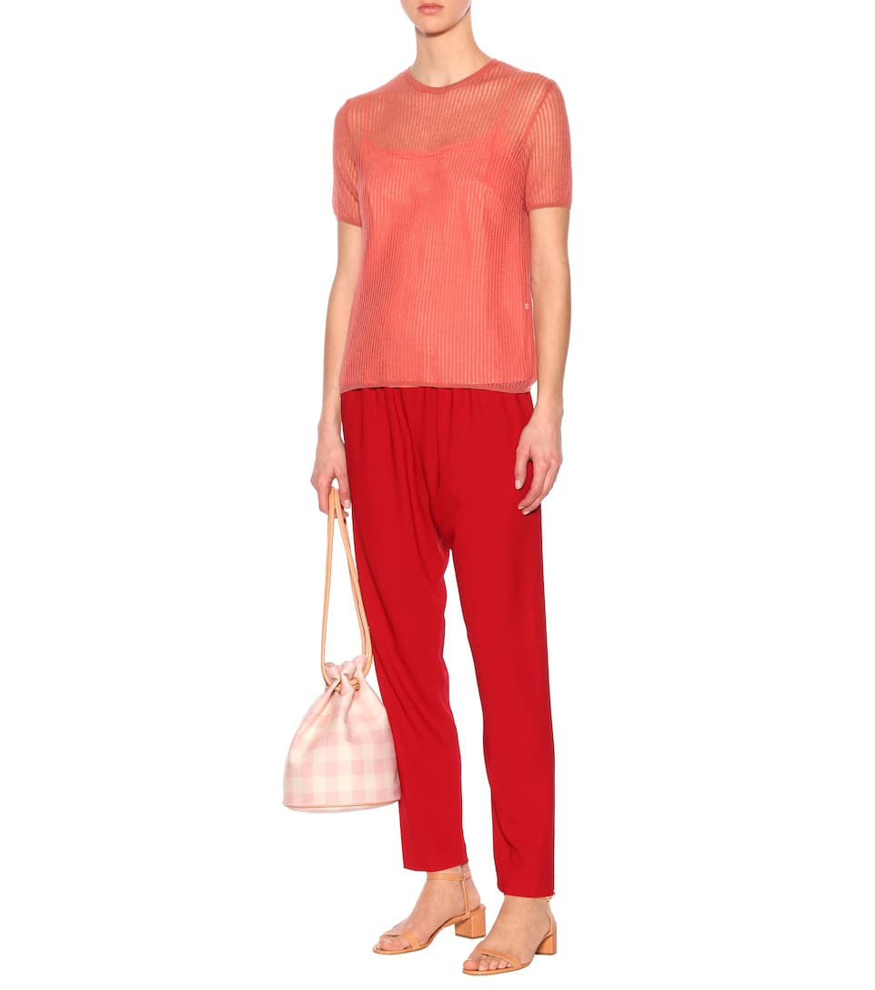 Best Seller Mansur Gavriel Mohair-blend sweater Blush Reliable Sale Online Buy Cheap Cheap Knock Off 85GtFWQMU5