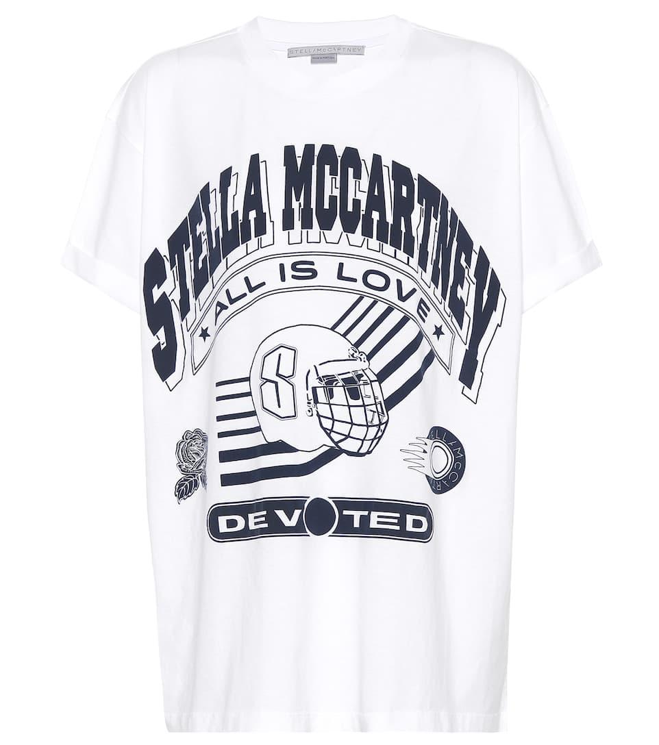 Stella McCartney T-shirt en coton imprimé Lg54mz