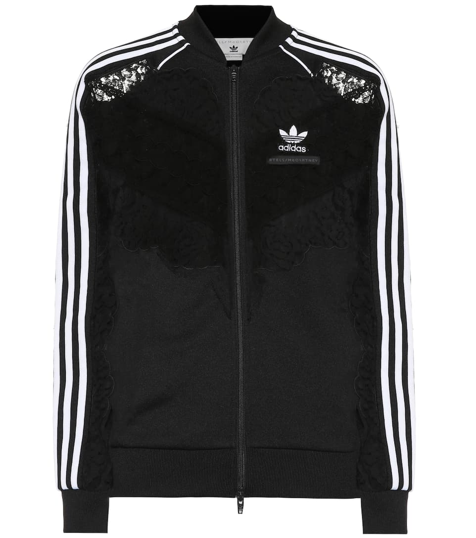 a7b7996ae2 Lace-Trimmed Track Jacket