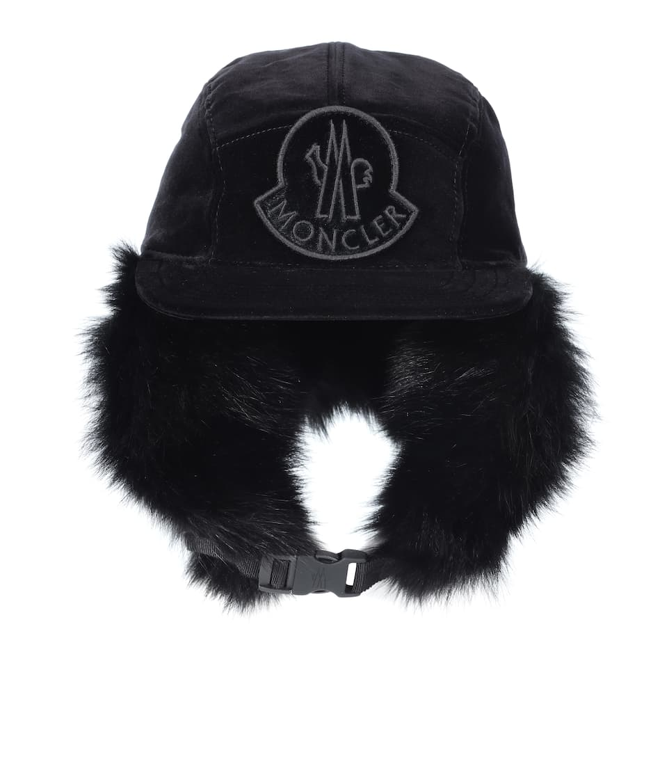 94d9a155010 Moncler - Fur-lined cotton trapper hat
