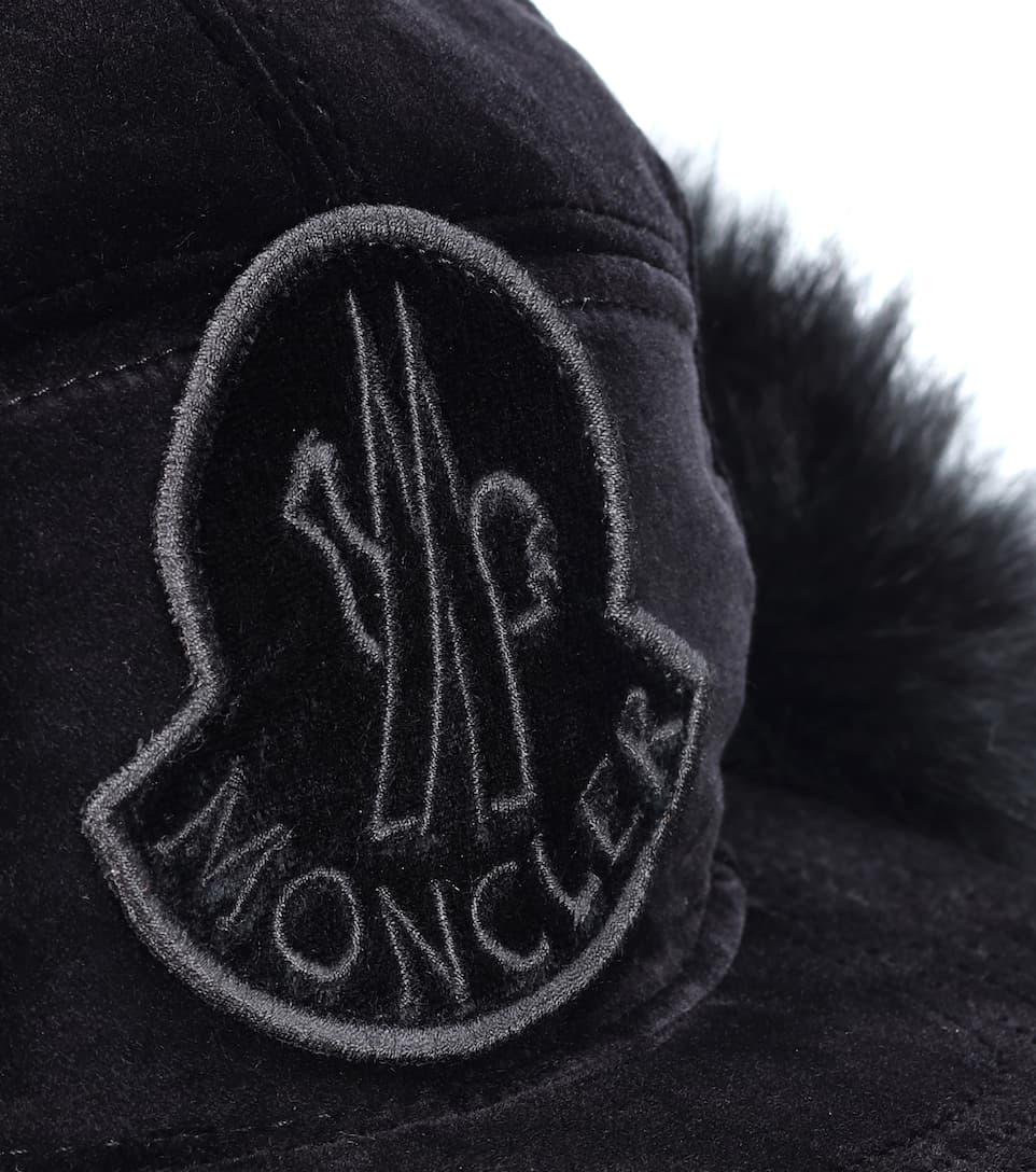 d2f557b7d Fur-Lined Cotton Trapper Hat - Moncler