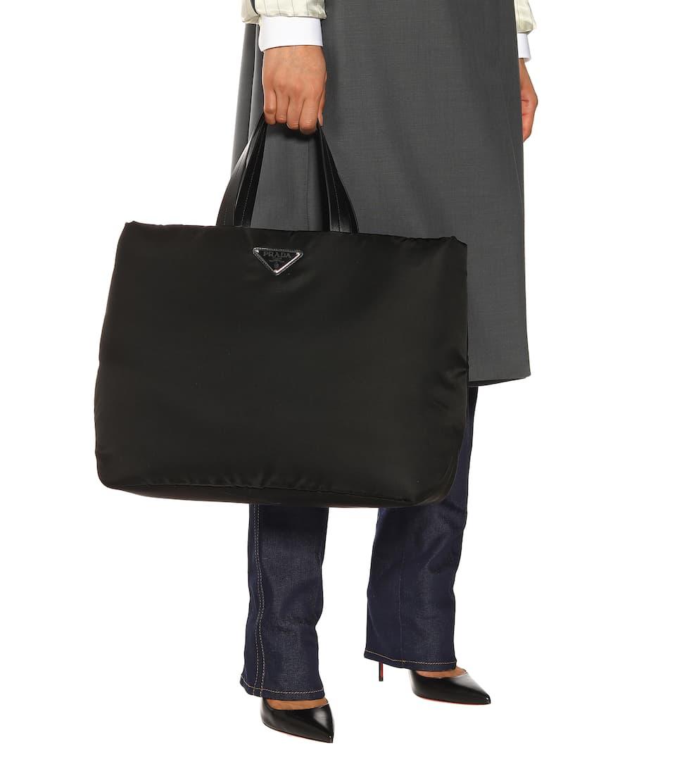 741e6cd893 Prada - Leather-trimmed nylon tote | Mytheresa
