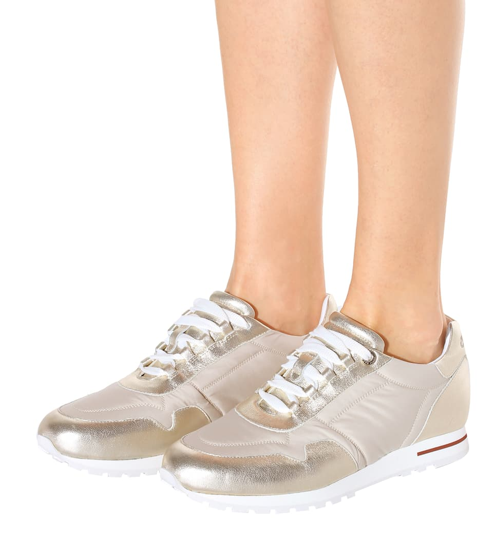 Loro Piana Sneakers My Wind mit Metallic-Leder