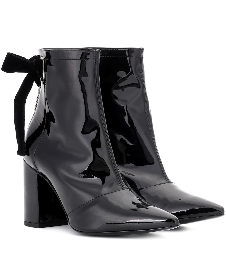 Self-Portrait X Clergerie Karli patent leather ankle boots