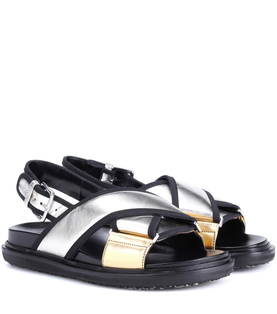 Sandales En Cuir - Marni