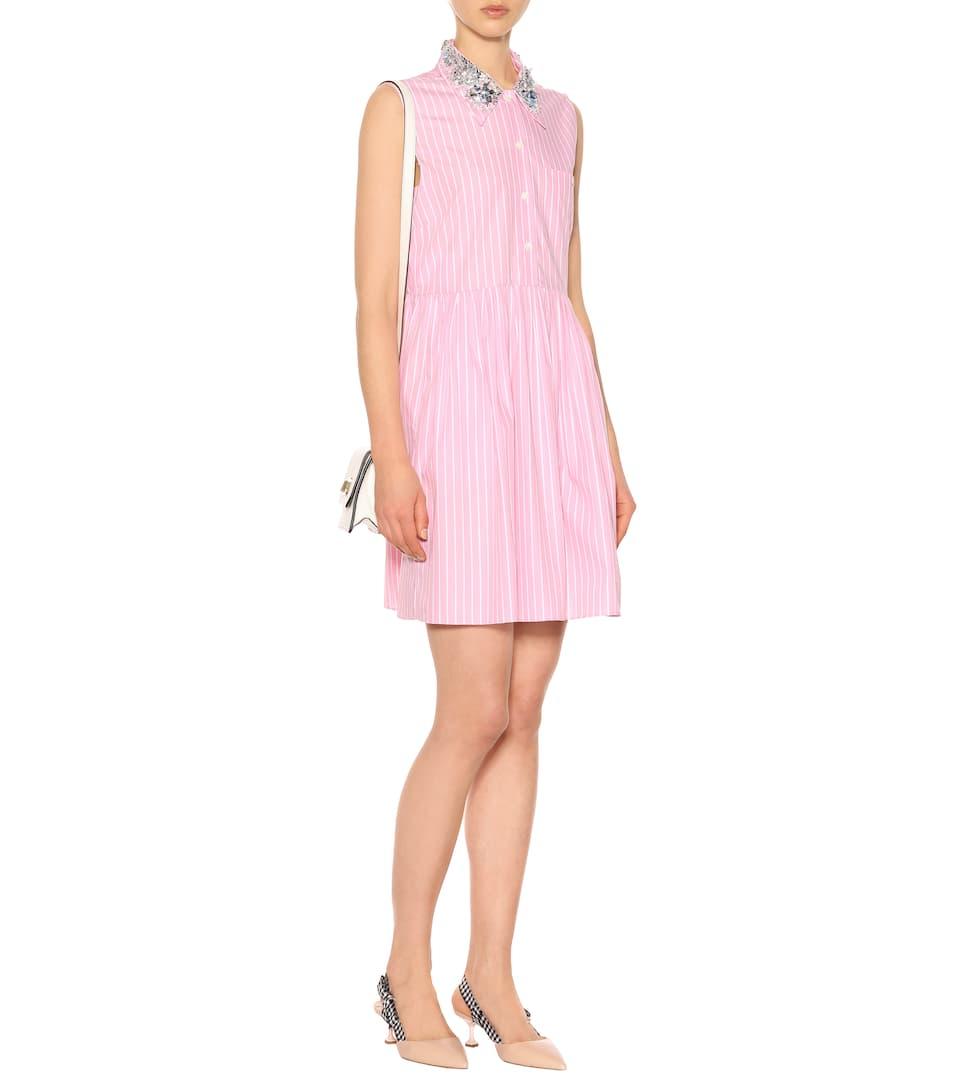 Miu Miu Verziertes Kleid aus Baumwolle