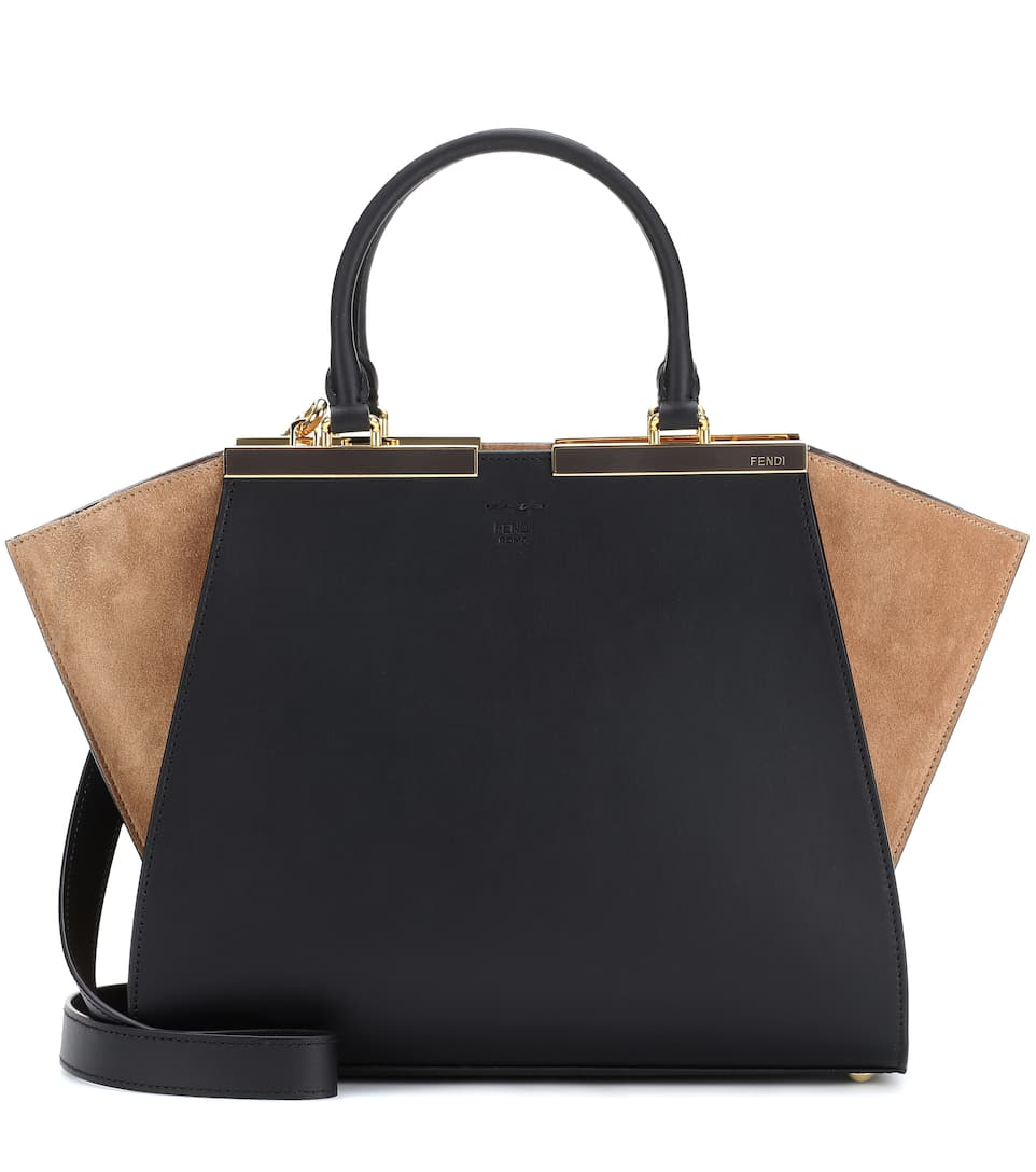 3Jours Leather And Suede Tote - Fendi