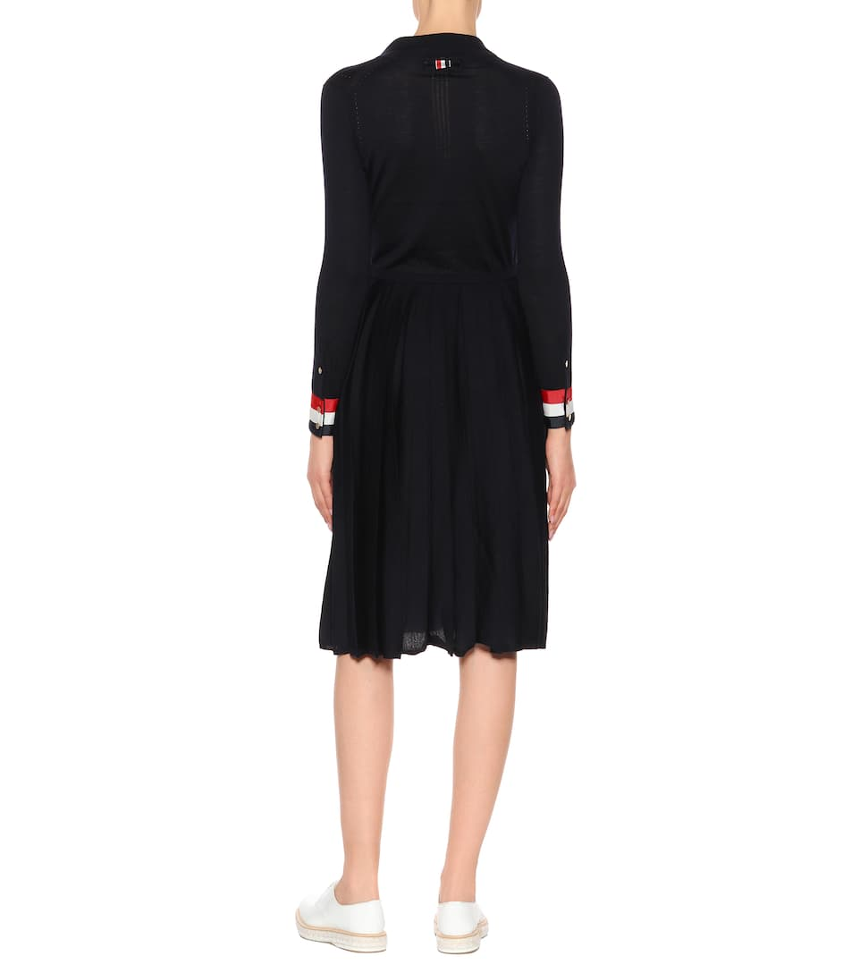Thom Browne From Midi Dress Wool